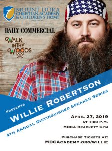 4th Annual Distinguished Speaker Series, featuring Willie Robertson of Duck Dynasty @ Mount Dora Christian Academy Bracket Auditorium | Mount Dora | Florida | United States